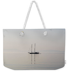 Weekender Tote Bag featuring the photograph Morning Mist by George Katechis