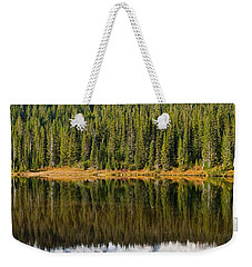 Mount Rainier And Reflection Lakes In The Fall Weekender Tote Bag