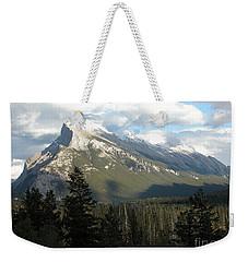 Mount Rundle Weekender Tote Bag by Stuart Turnbull