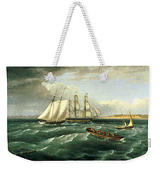 Mouth Of The Delaware Weekender Tote Bag