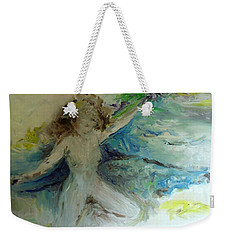 Weekender Tote Bag featuring the painting My Vagina by Laurie L