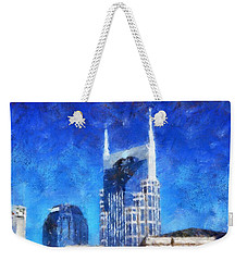 Nashville Skyline Weekender Tote Bag by Dan Sproul