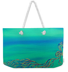 Weekender Tote Bag featuring the painting Nerissa by Robert Nickologianis