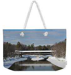 North Conway Covered Bridge  Weekender Tote Bag
