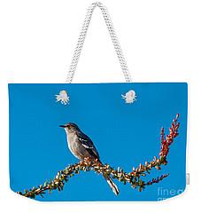 Northern Mockingbird Weekender Tote Bag by Robert Bales