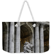 Ny Library Lion Weekender Tote Bag