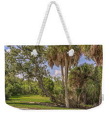 Weekender Tote Bag featuring the photograph Oak Trees by Jane Luxton