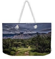 Weekender Tote Bag featuring the photograph Odyssey Into Clouds Oil by Mark Myhaver