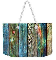 Old Barnyard Gate With Colors Brightened Weekender Tote Bag