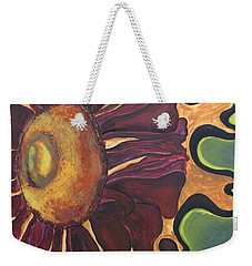 Weekender Tote Bag featuring the painting Old Fashion Flower by Jolanta Anna Karolska