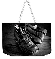 Old Leather Shoes Weekender Tote Bag