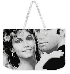Olivia Newton John And John Travolta In Grease Collage Weekender Tote Bag