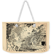 Weekender Tote Bag featuring the drawing Open Sesame by Reynold Jay
