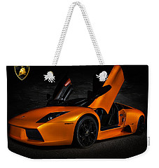 Orange Murcielago Weekender Tote Bag