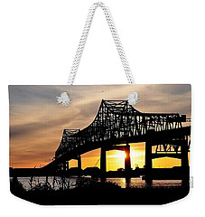 Over The Mississippi Weekender Tote Bag