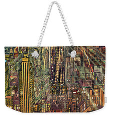 New York Mid Manhattan 1971 Weekender Tote Bag