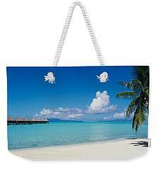 Palm Tree On The Beach, Moana Beach Weekender Tote Bag
