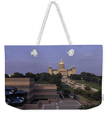 Panoramic View Of Iowa State Capitol Weekender Tote Bag by Panoramic Images