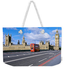 Parliament Big Ben London England Weekender Tote Bag by Panoramic Images