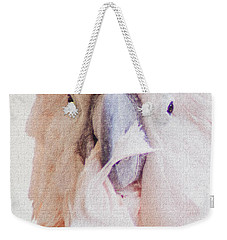 Weekender Tote Bag featuring the photograph Parrot Flair by Roselynne Broussard