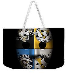 Penguins Goalie Mask Weekender Tote Bag by Joe Hamilton