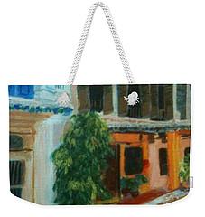 Weekender Tote Bag featuring the painting Peranakan House by Belinda Low