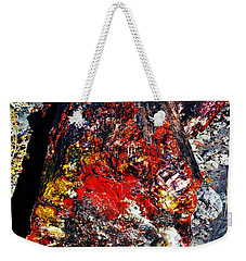 Petrified Wood Log Rainbow Crystalization At Petrified Forest National Park Weekender Tote Bag
