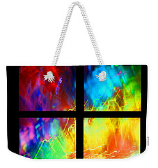 Weekender Tote Bag featuring the photograph Physical Graffiti 1 Series Layout by Dazzle Zazz