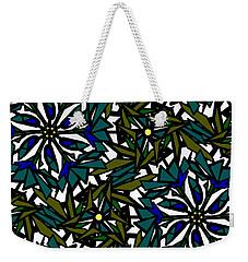 Pin-wheel Flowers Weekender Tote Bag by Elizabeth McTaggart