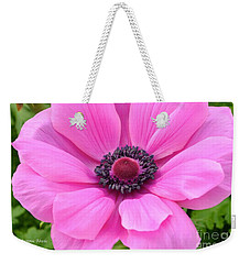 Weekender Tote Bag featuring the photograph Pink Flower by Jeannie Rhode