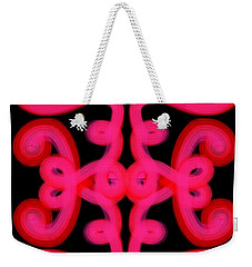 Weekender Tote Bag featuring the digital art Pink Scroll by Christine Fournier