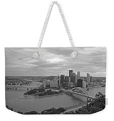 Pittsburgh - View Of The Three Rivers Weekender Tote Bag by Frank Romeo