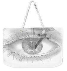 Plank In Eye Weekender Tote Bag by Terry Frederick