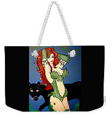 Poison Ivy  Cartoon Weekender Tote Bag by Nora Shepley