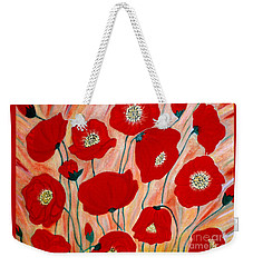 Poppies. Inspirations Collection. Weekender Tote Bag
