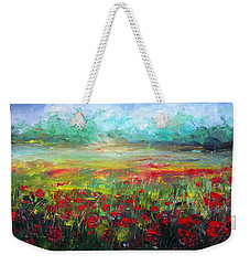 Poppy Fields Weekender Tote Bag
