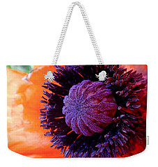 Poppy Weekender Tote Bag by Rona Black