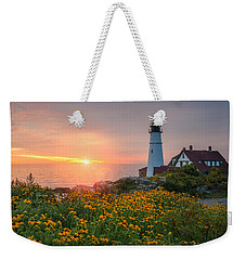 Portland Head Light Sunrise  Weekender Tote Bag
