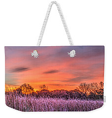 Illinois Prairie Moments Before Sunrise Weekender Tote Bag