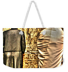 Weekender Tote Bag featuring the photograph Praying At The Western Wall by Doc Braham