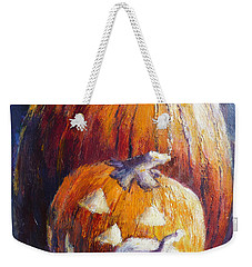 Pumpkin Happy Face Weekender Tote Bag