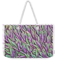 Weekender Tote Bag featuring the photograph Purple And Green by Holly Kempe
