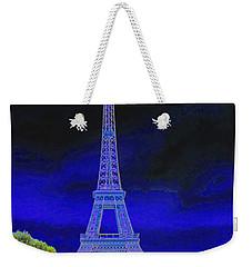 Purple Eiffel Weekender Tote Bag