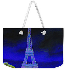 Purple Eiffel Weekender Tote Bag
