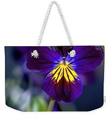 Purple Viola Weekender Tote Bag