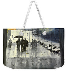 Rainy City Street Weekender Tote Bag