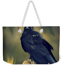 Weekender Tote Bag featuring the photograph Raven by Yulia Kazansky