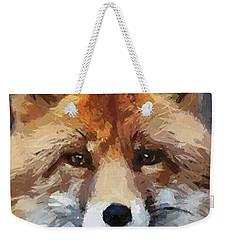 Red Fox Weekender Tote Bag by Dragica  Micki Fortuna