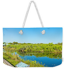 Reflection Of Trees In A Lake, Anhinga Weekender Tote Bag