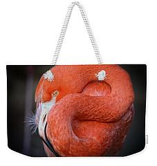 Resting Flamingo Weekender Tote Bag